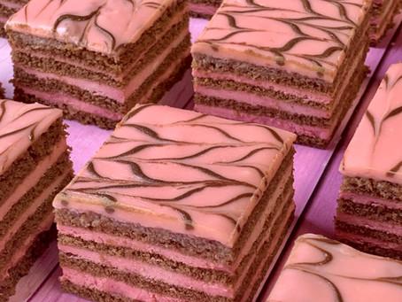 עוגת שכבות שוקולד פטל