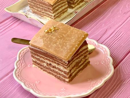 עוגת דובוש דבש קרמל