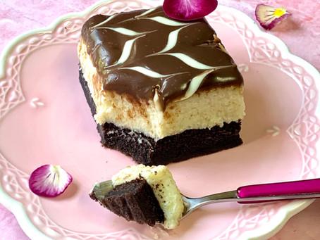 עוגת שוקולד וקרם סולת