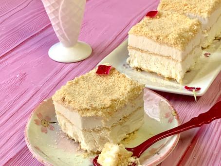 עוגת גלידה גבינה פירורים