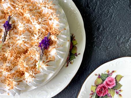 עוגת מוס קוקוס ומרנג