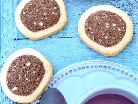 עוגיות וניל שוקו ואגוזי לוז
