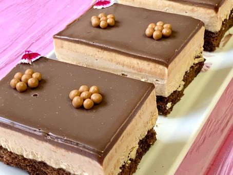 עוגת מוס שוקולד קפה קרמל