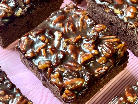 עוגת טקסס-שוקולד פקאן