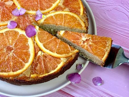 עוגת תפוז דם הפוכה