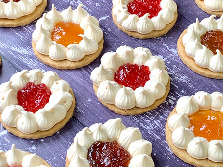 עוגיות פרח מרנג