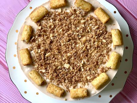 עוגת גלידה במבה נוגט