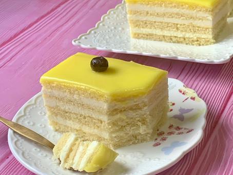 עוגת שכבות לימון