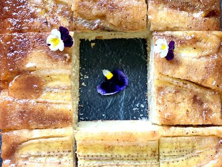עוגת בננות הפוכה