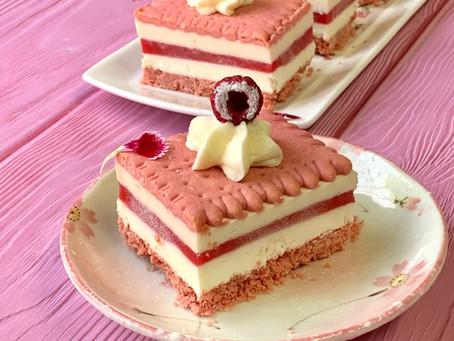 עוגת ביסקוויטים פטל וניל