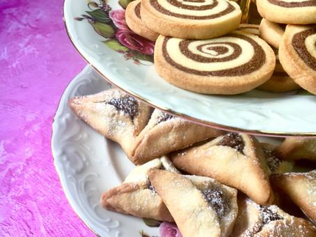 עוגיות ספירלה ואוזני המן