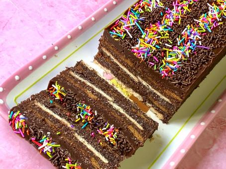 עוגת ביסקוויט שוקולד