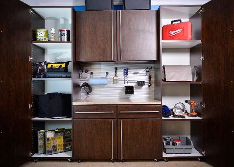 Chocolate Custom Garage Cabinets - Lake Charles, LA - ShelveIt