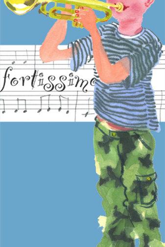 Boy trumpet