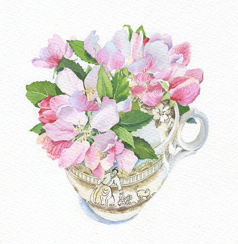 Apple blossom cup