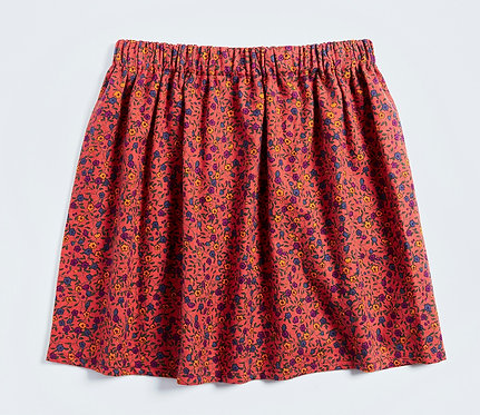 AGE 4-5 / Floral Cotton Skirt