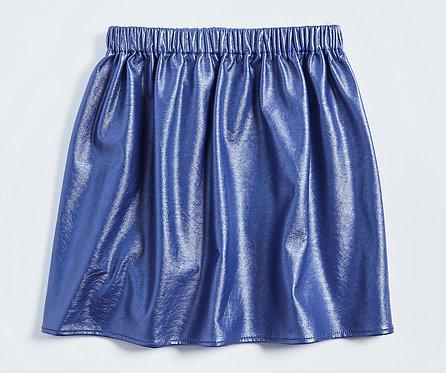 AGE 2-3 / Metallic Faux Leather Skirt
