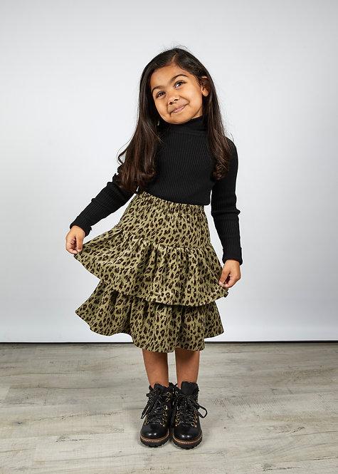 AGE 5-6 / Leopard Corduroy Skirt