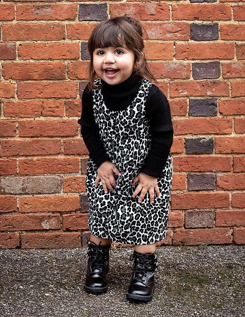 AGE 2-3 / Leopard Needlecord Dress