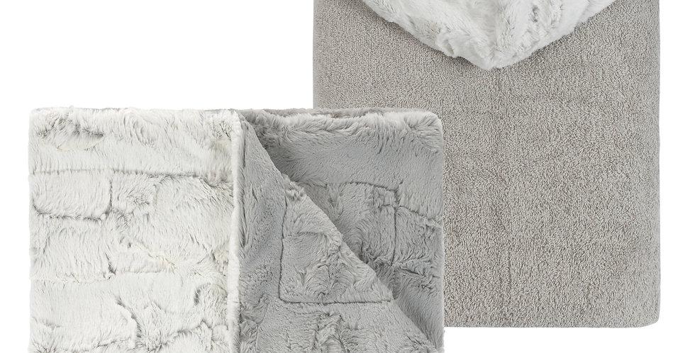 Milo Grey Blanket and Towel Set