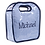 Thumbnail: Wholesale Blue Checked Keyhole Diaper Bag with Embroidery