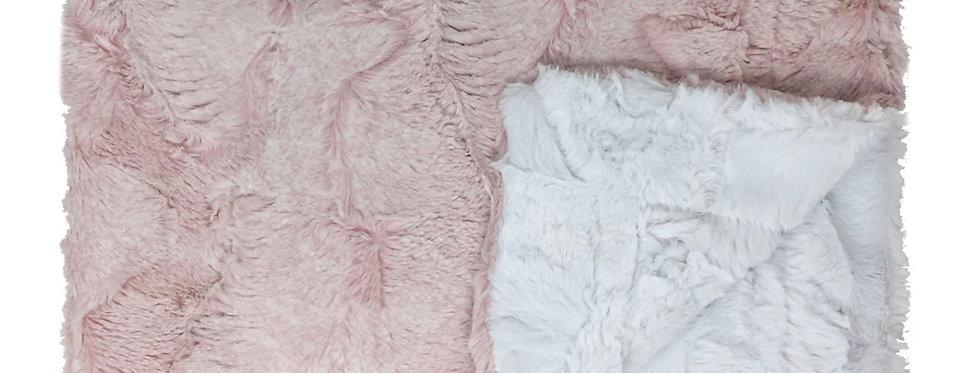 Amelia Pink/White Blanket