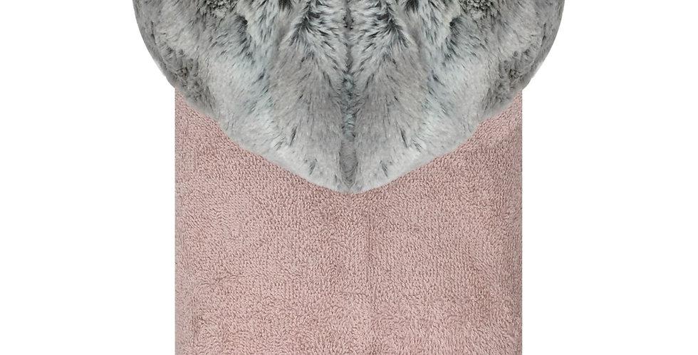 Mia Silver/Light Pink Towel