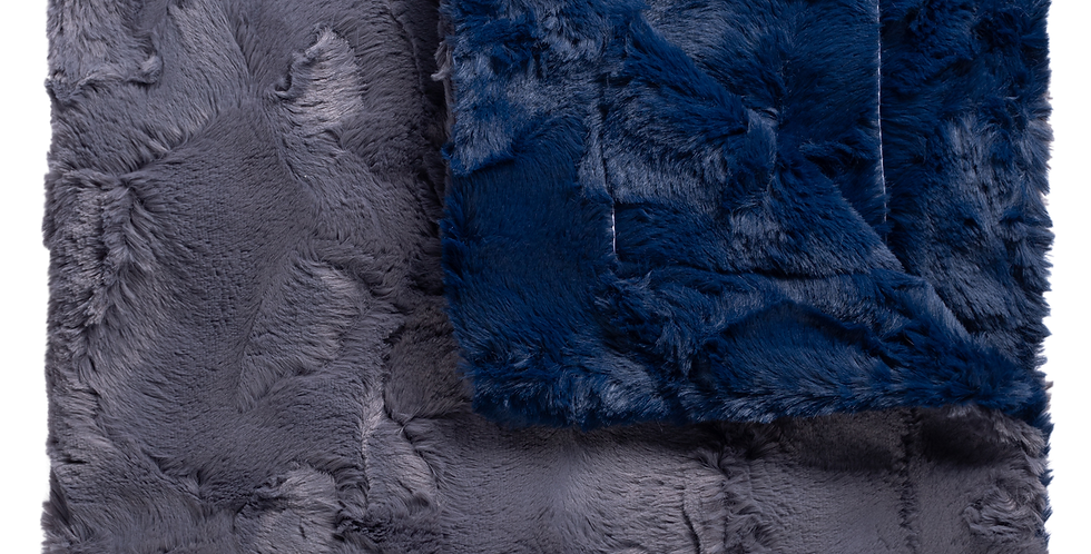 Sophia Navy/Charcoal Blanket