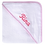 Thumbnail: Hooded Terry Towel with Pink Trim