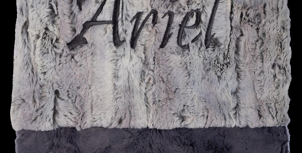 Mia Silver/Charcoal Blanket