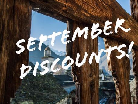 In arrivo le promozioni di settembre!