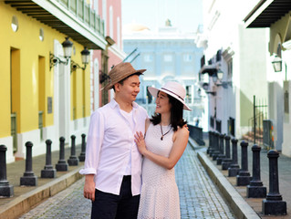 Cheery Old San Juan Engagement Session
