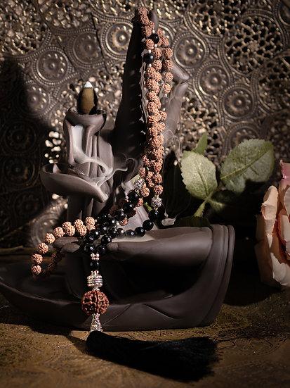Mala Rudrashka & Onyx