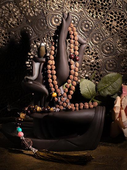 Mala Rudrashka & œil du tigre