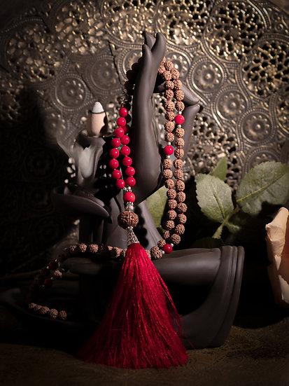 MalaRudrashka & jade rouge