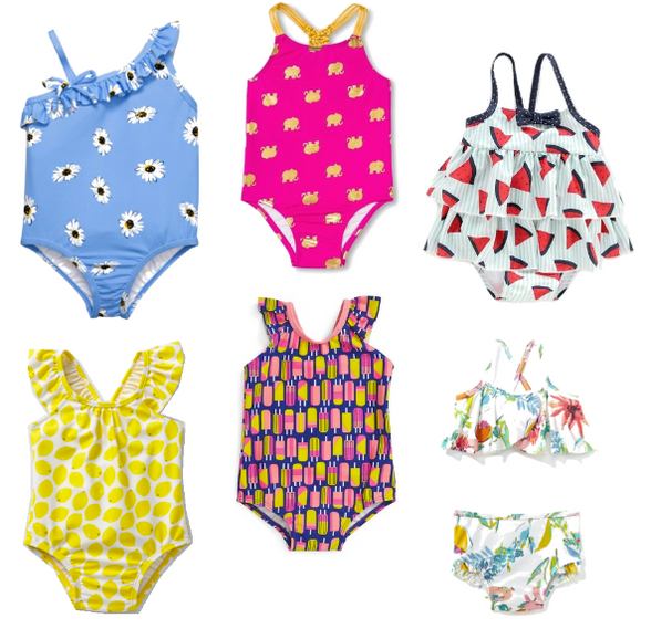 Swimsuits for the Littlest Mermaids