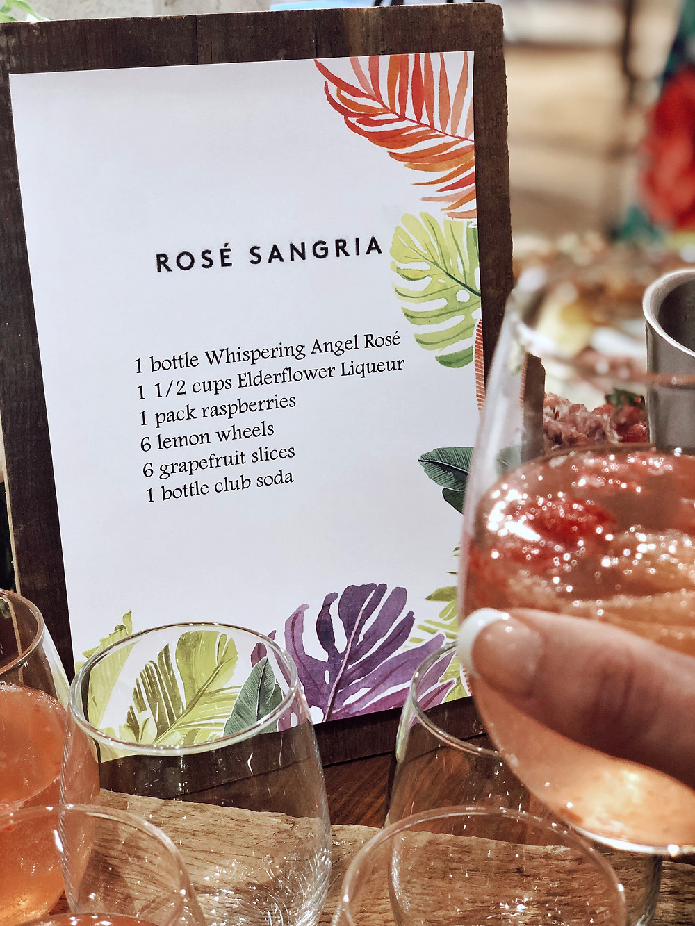 Anthropologie cocktail workshop rosé sangria recipe