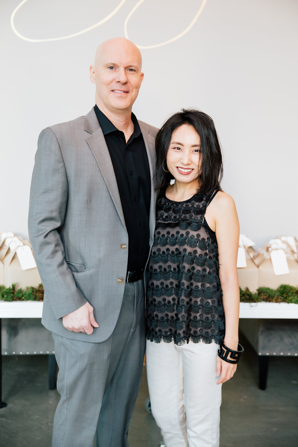 Asheville Couture designer Angela Kim and her husband