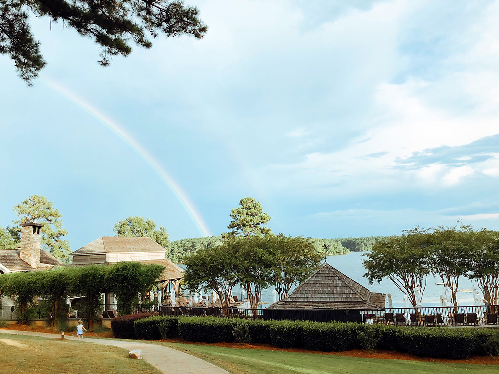 Rainbow over Gaby's at the Ritz Carlton Lake Oconee