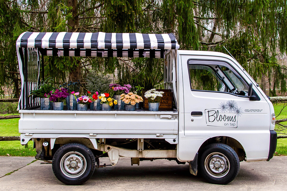 Blooms on Tap, Birdie Flower Truck, Asheville florist, flower delivery