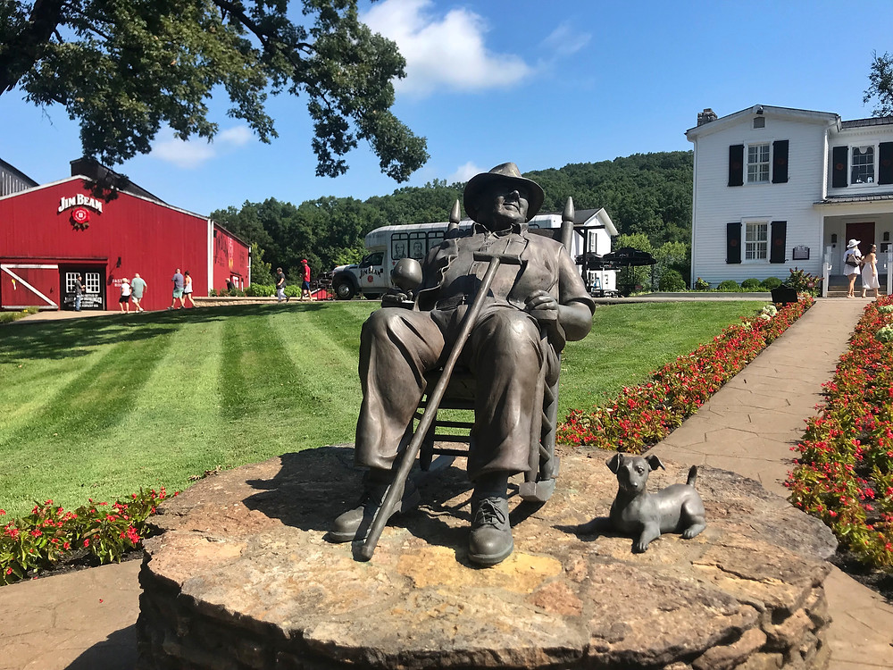 Statue of Booker Noe at Jim Beam distillery in Clermont Kentucky, Ultimate Guide to Bourbon Trail, Plan Your Trip To Bourbon Trail travel guide