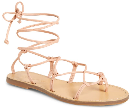 Madewell Boardwalk Lace Up Sandal, summer sandals,