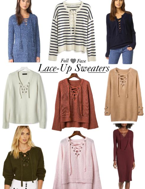 Shop Edit | Lace-Up Sweaters