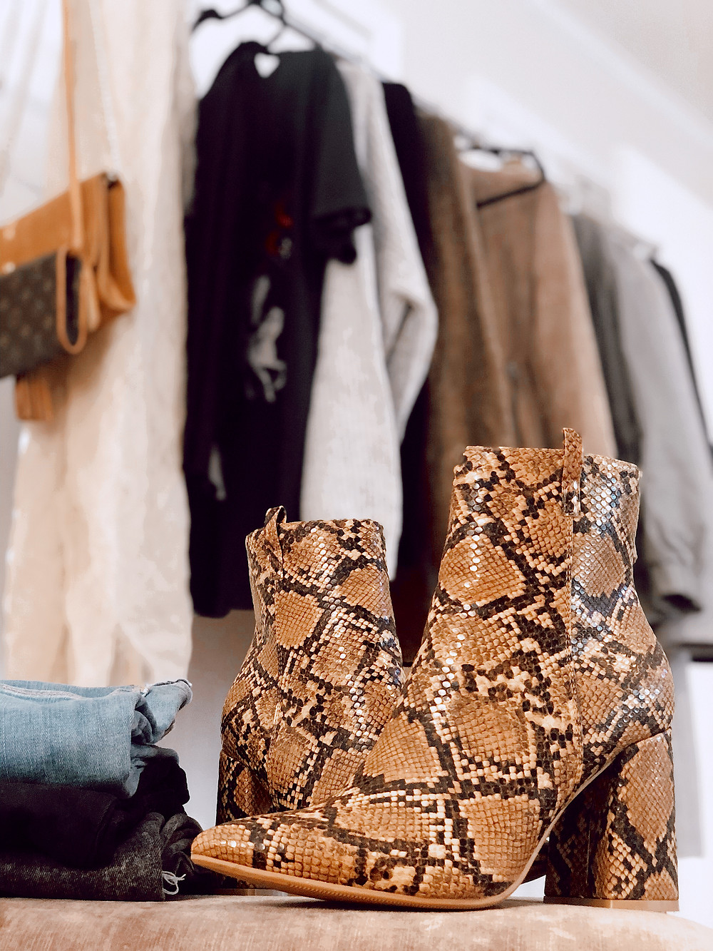 Brown-snakeskin-print-ankle-booties-under-$50-fashion-blog-review-fall-trend-report