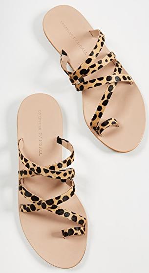 Loeffler Randall Sarie Leopard print sandal, summer sandals
