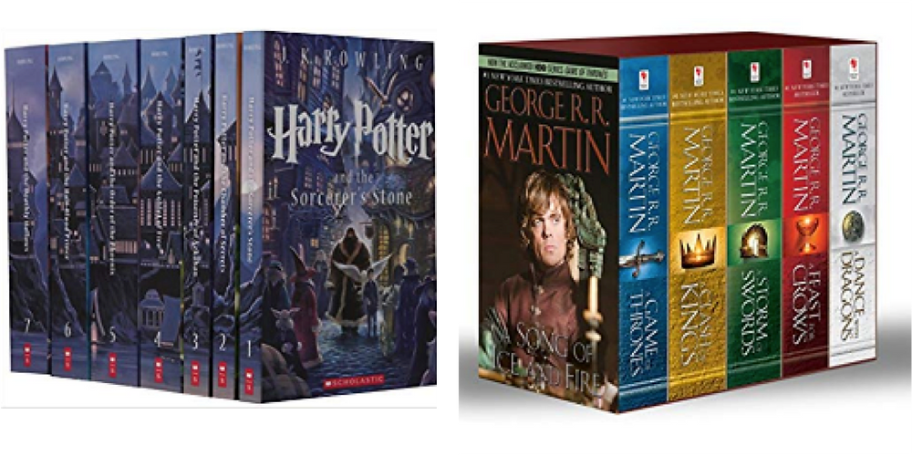 Best summer beach reads book list, fantasy series, harry potter, a song of ice and fire, game of thrones
