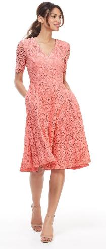Gal Meets Glam Louisa Dress, pink lace dress sleeves, summer wedding guest dress, pink cocktail dress