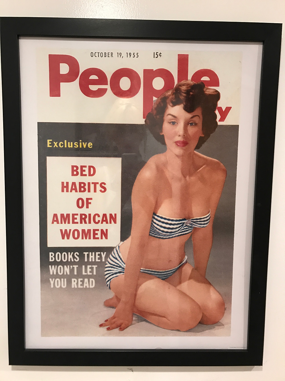 Vintage People Magazine cover from 1955