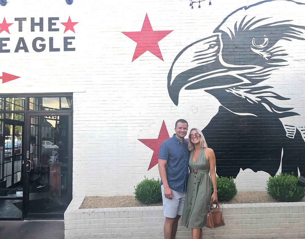 The Eagle wall mural, fried chicken, fried chicken, Bourbon Trail travel guide, where to eat in Louisville, best restaurants, travel blog