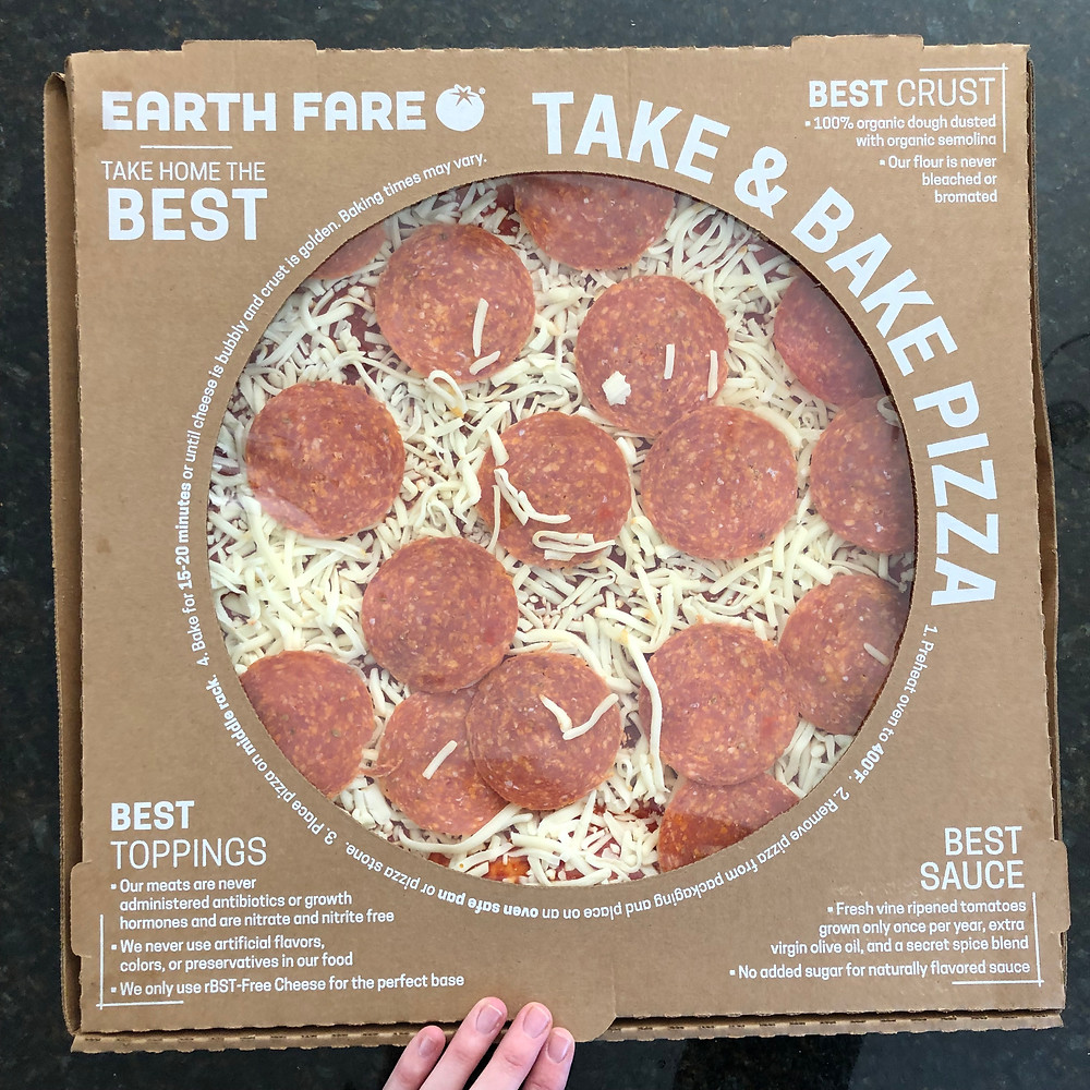 Earth Fare Take and Bake Pizza